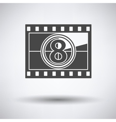 Movie frame with countdown icon vector image