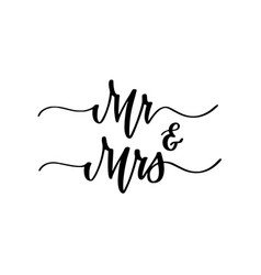 mr and mrs wedding engagement party sweet vector image