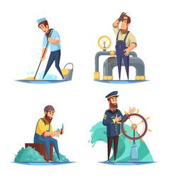 Nautical 2x2 design concept vector
