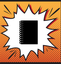 notebook simple sign comics style icon on vector image
