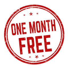 one month free sign or stamp vector image