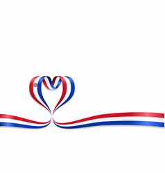 paraguayan flag heart-shaped ribbon vector image