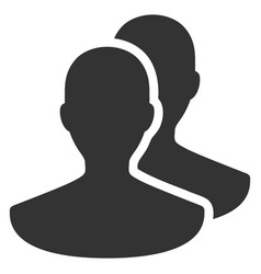 Persons flat icon vector