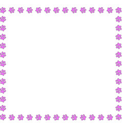 Pink square frame of animal paws on white vector
