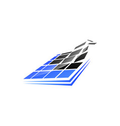 pixel square technology logo square digital pixel vector image