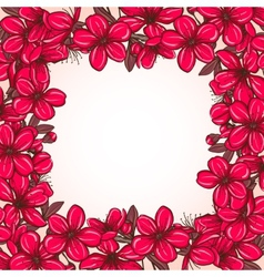 Plum blossom frame vector image vector image