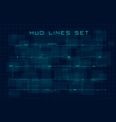 set hud futuristic header footer and line vector image