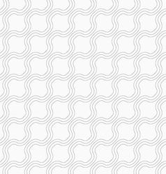 Slim gray diagonal bulging waves vector