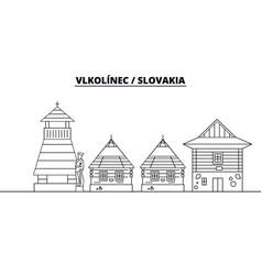 slovakia - vlkolinec travel famous landmark vector image