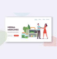 Specialist traditional medicine giving herbal vector
