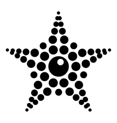 Spotted star icon simple style vector