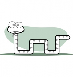 square animal snake vector image