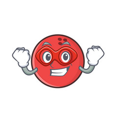 Super hero bowling ball character cartoon vector