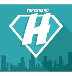 Superhero sign City design graphic vector image
