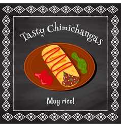 tasty chimichangas vector image