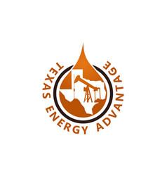 Texas energy advantage oil mining vector