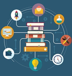 The concept of modern education vector image