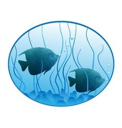 Underwater oval vector