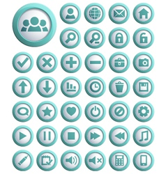 Web icons big set vector image vector image