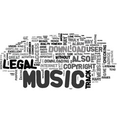 where to find free music download text word cloud vector image