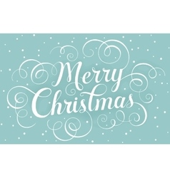 White lettering Merry Christmas for greeting card vector image