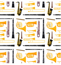 Wind musical instruments tools acoustic musician vector