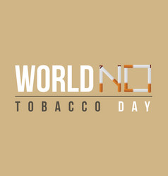 World no tobacco day flat background vector