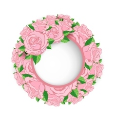 wreath roses banner vector image