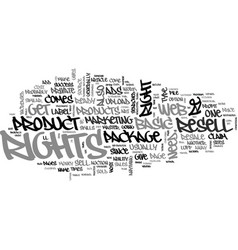 are product resell rights a viable money maker vector image vector image
