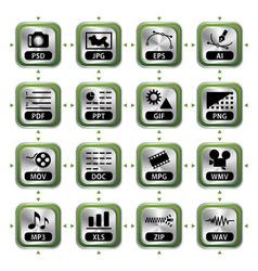 file icon set vector image
