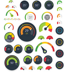 gauges set vector image vector image