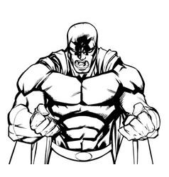 raging superhero scream vector image