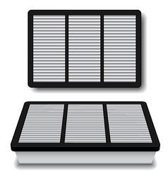 white air filter vector image