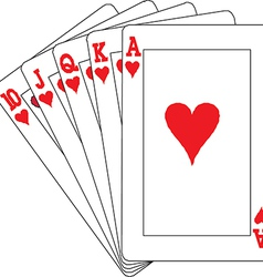 A royal straight flush playing cards poker vector image