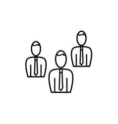 businessmen team icon vector image vector image