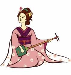 geisha music vector image