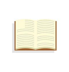open book icon on isolated background vector image
