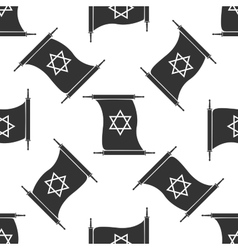 Star of David from scroll icon pattern on white vector image vector image