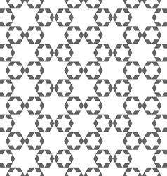 Abstract monochrome arabic seamless pattern with vector image vector image