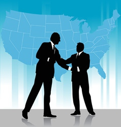 business agreement vector image vector image