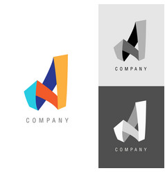 logo design element letter symbol a vector image