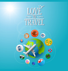 planet travel icons vector image