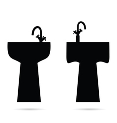 sink in black vector image vector image