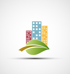 Ecological real estate vector image vector image