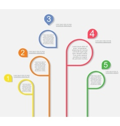 Infographic templates for business design vector image
