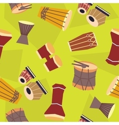 seamless ethnic drums pattern vector image