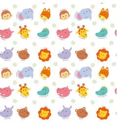 seamless pattern cute wild animal vector image vector image