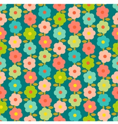 Vintage Seamless Pattern With Small Flowers vector image vector image