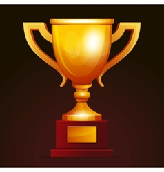 Winner golden cup vector image vector image