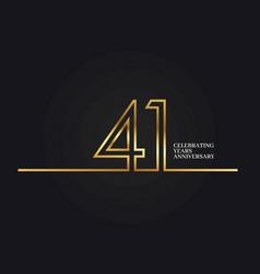 41 years anniversary vector image
